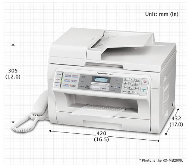 Panasonic KX-MB2085CXW MFP Laser Printer (PRINT,COPY,SCAN,FAX,NETWORK)