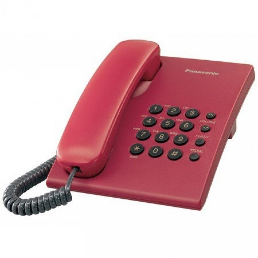 PANASONIC KX-TS500ML SINGLE LINE PHONE (RED)