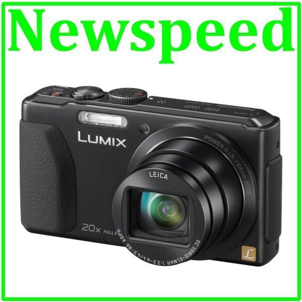New Panasonic Lumix DMC-TZ40 Black Digital Camera +8GB+Case TZ40