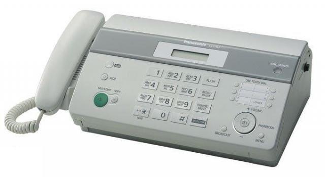 PANASONIC MONO THERMAL FAX MACHINE (KX-FT982ML) WHT