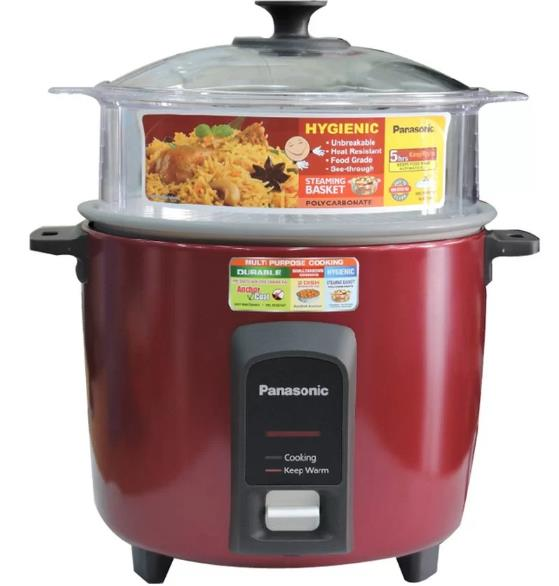 PANASONIC Rice Cooker 2.2L Full Glass LID 2-Dish Separator PANA-SR-Y22