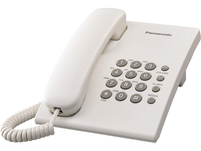 Panasonic Single Line Phone KX-TS500, WHITE