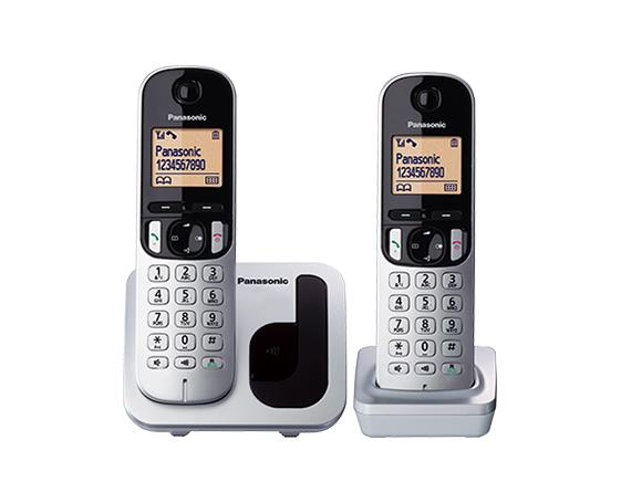 Panasonic Twin Digital Cordless DECT Phone, KX-TGC212ML