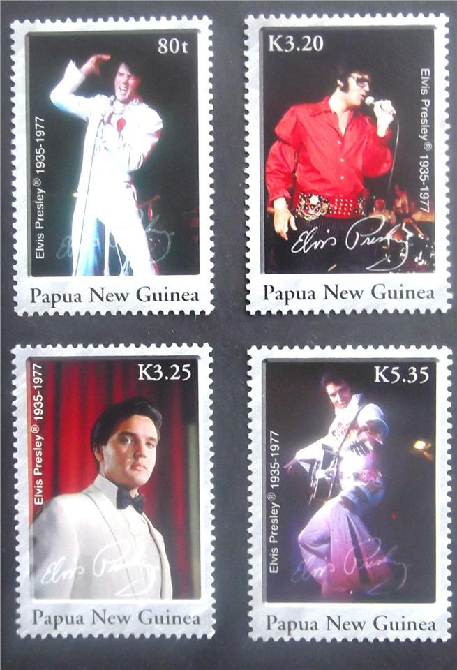 PAPUA NEW GUINEA stamps 2006 ELVIS Music 4 pcs mnh
