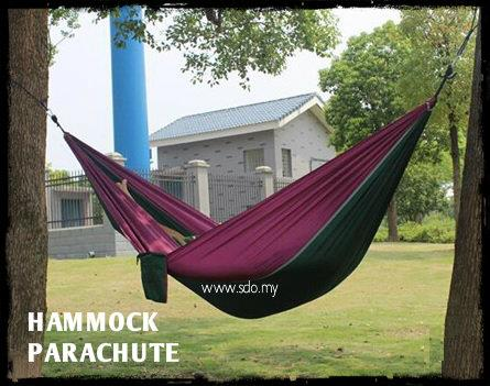 PARAHUTE CLOTH HAMMOCK WITH CARABINER