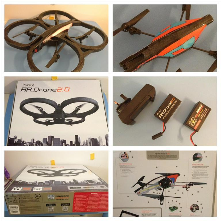 PARROT AR DRONE 20 WIFI QUADRICOPTER CONTROL BY APPLE