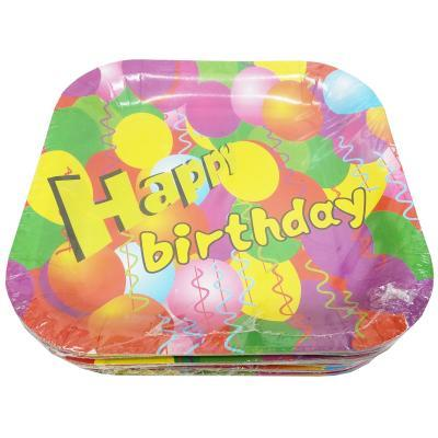 Party Paper Plates 10s (Happy Birthday)