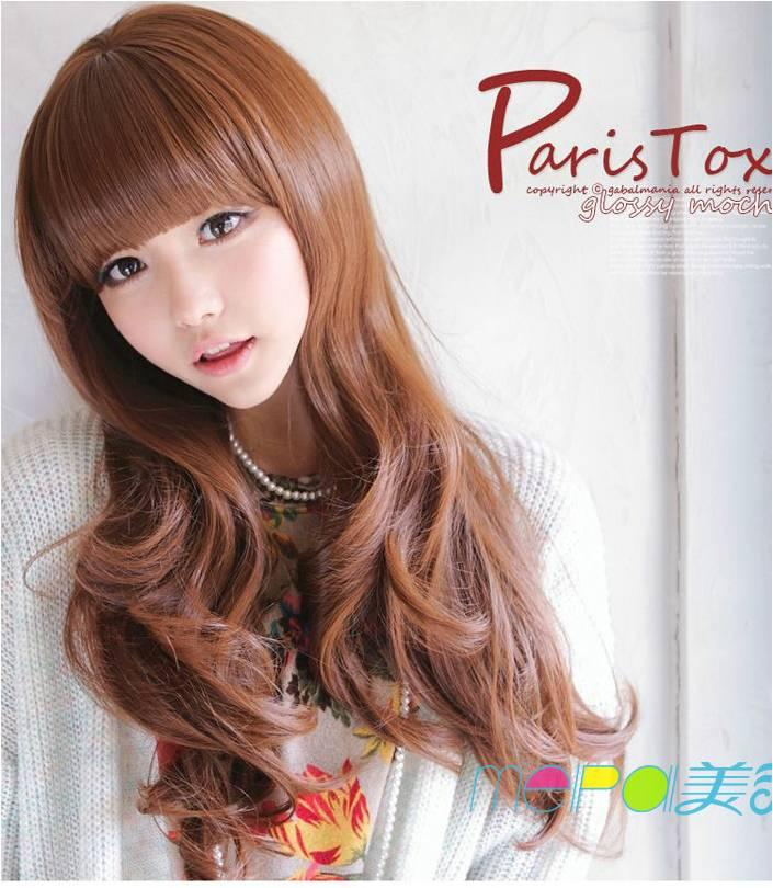 Party wig honey brown* December ready stock-rambut palsu