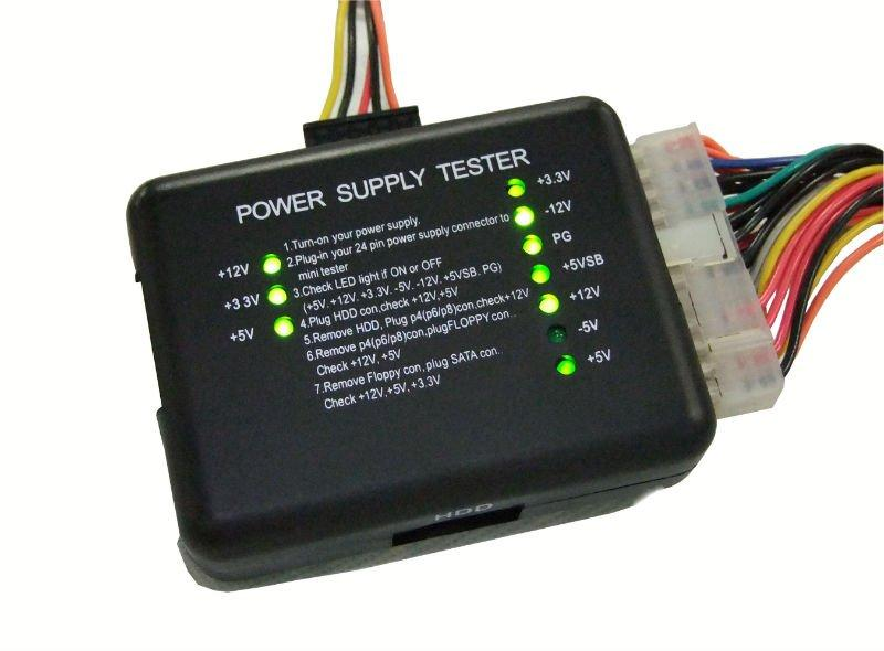 PC 20/24 Pin PSU ATX SATA HD Power Supply Tester