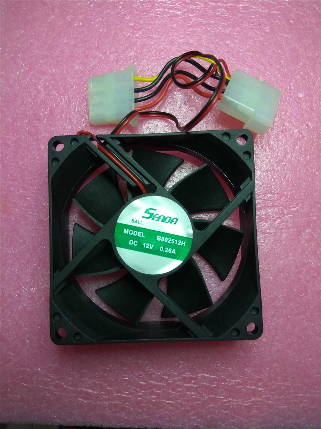 PC Ball Fan 12V DC Brushless Cooling Fan 4 Pin Connector 80mm 80mm