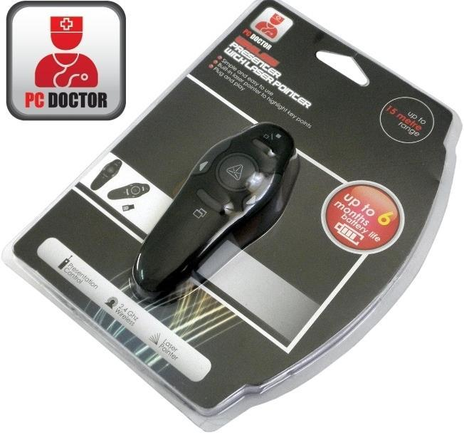 PC DOCTOR RED LASER POINTER 2.4GHZ CORDLESS PRESENTER, PP05
