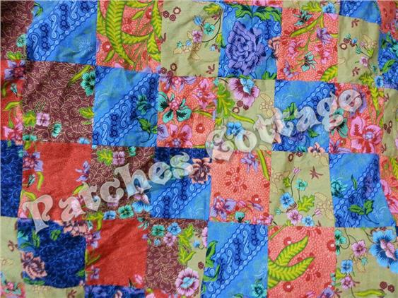 PC Super Single Blanket  with Square Patches