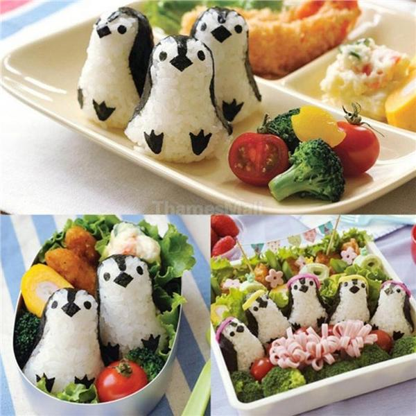 Penguin Shape Sushi Rice Bento Mold Mould Cutter