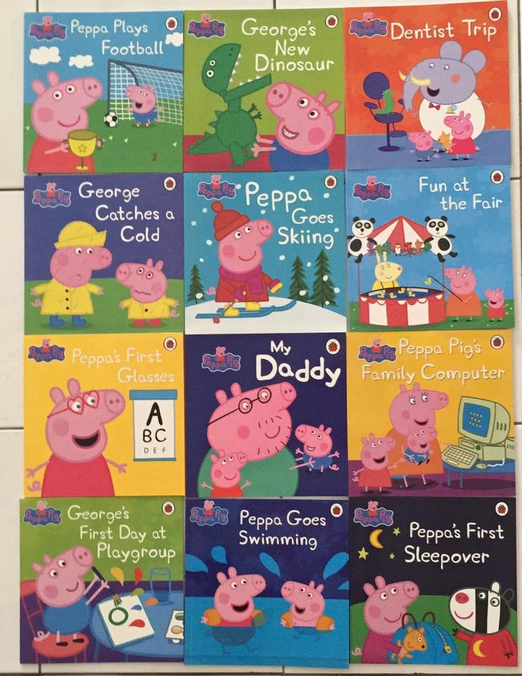 Peppa Pig 12 books collection set with FREE 2 extra random titles