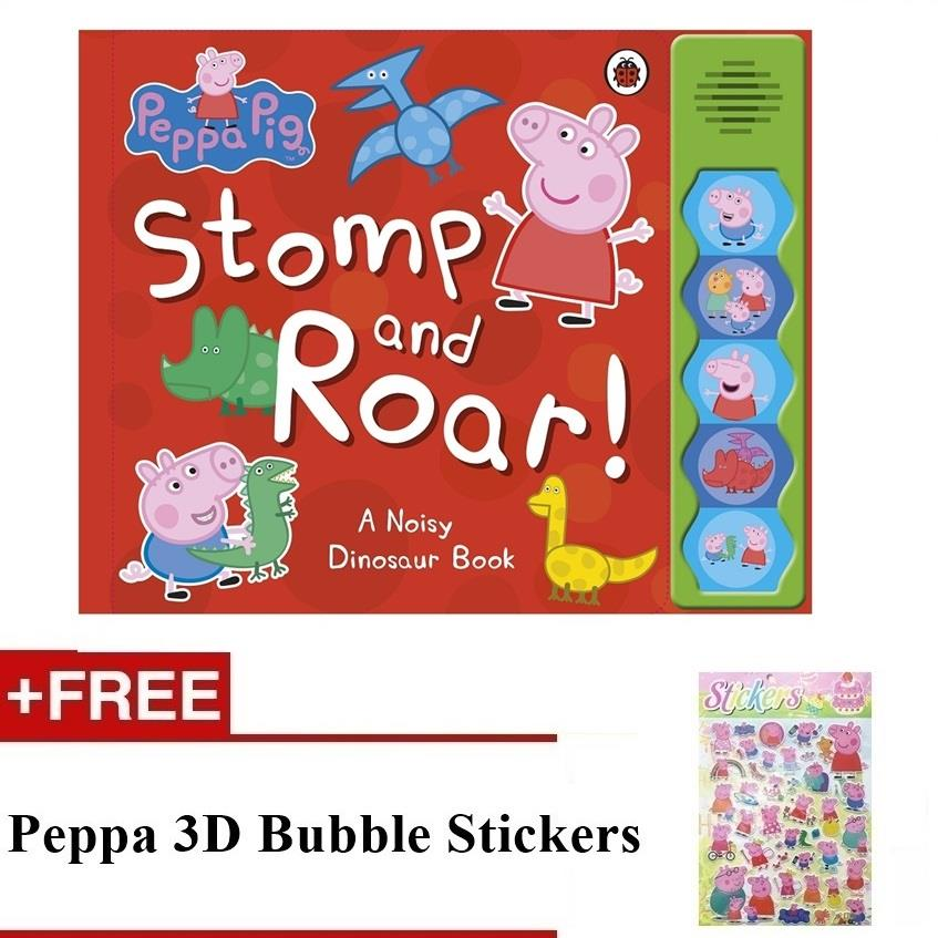Peppa Stomp And Roar Sound Book (FOC Peppa 3D Bubble Stickers)
