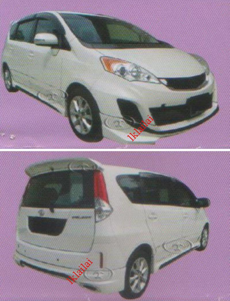 Perodua Alza '14 Aerotech Full Set Body Kit Front+Side+Rear Skirt [PU]