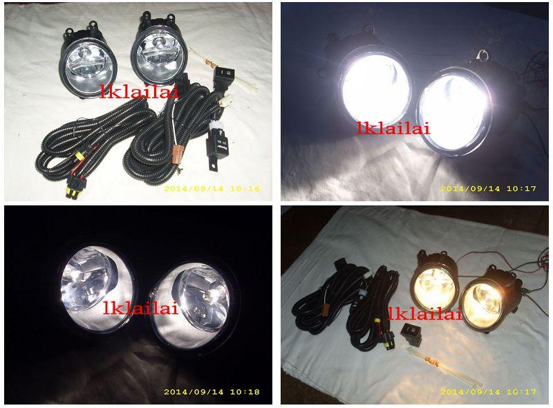 Perodua Alza 2014 Fog Lamp Set With Wiring & Switch [Glass Lens]