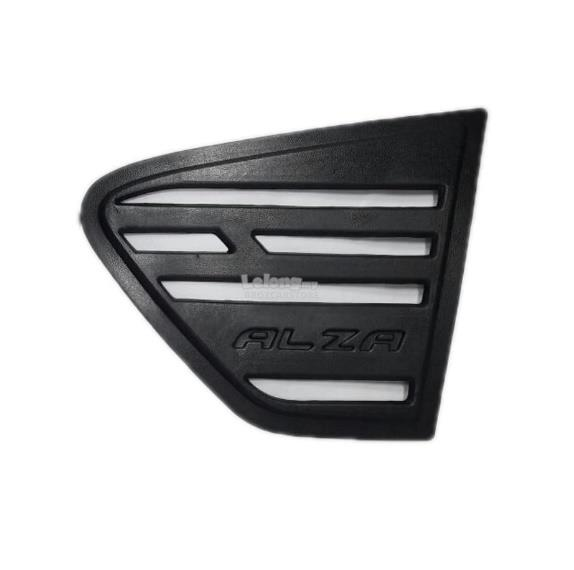 Perodua Alza Black Rear Side Window Triangle Mirror Cover Protector