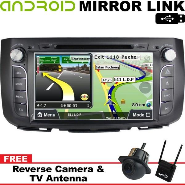 "PERODUA ALZA DLAA 9"" Android Mirror Link Double Din GPS DVD TV Player"