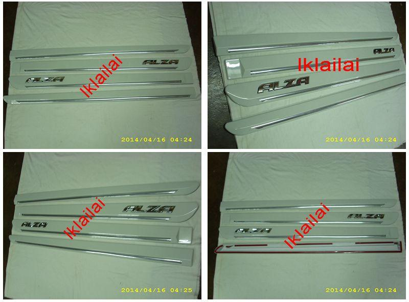 Perodua Alza Door Side Moulding With Chrome Lining Painted