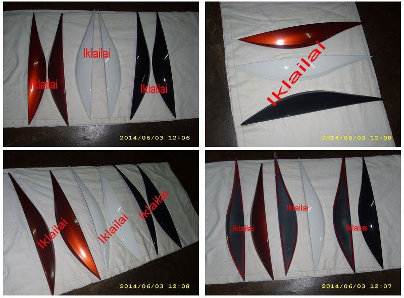 Perodua Alza Head Lamp Eye Lip  Lid Cover [per pair]