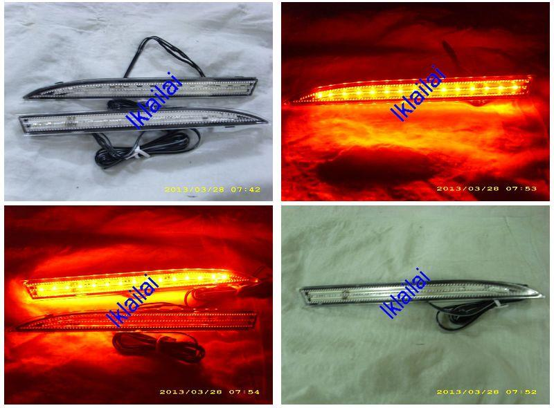 Perodua Alza Rear Bumper Reflector with LED [Red/Clear Lens]