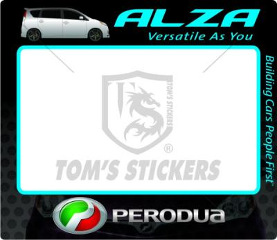 Perodua Alza Roadtax Sticker E08