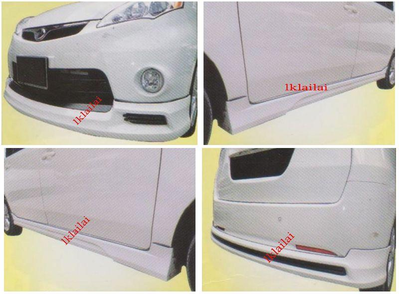 Perodua Alza SE Full Set Skirting Body Kit Front+Side+Rear Skirt [PU]