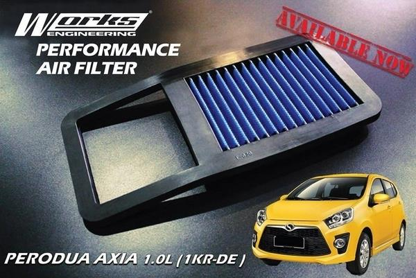 PERODUA AXIA 1.0 2014 - 2016 WORKS ENGINEERING Drop In Air Filter