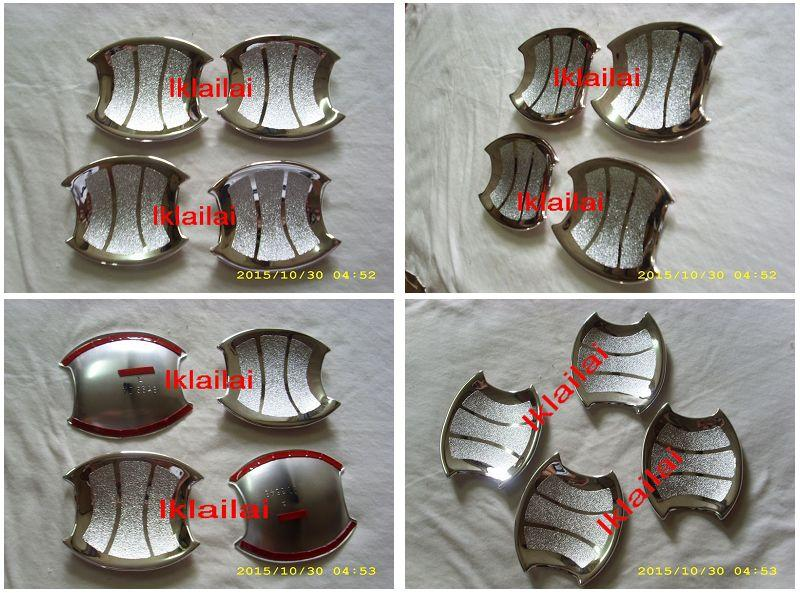 Perodua Axia Chrome Outer Door Handle Cover [4pcs/set]