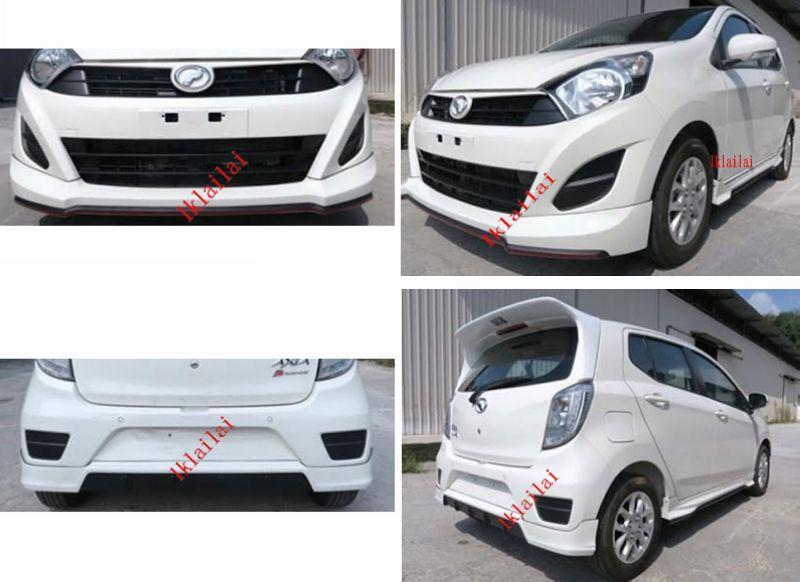 Perodua Axia G Spec Sportivo Full Set Skirting Body Kit [PU Material]