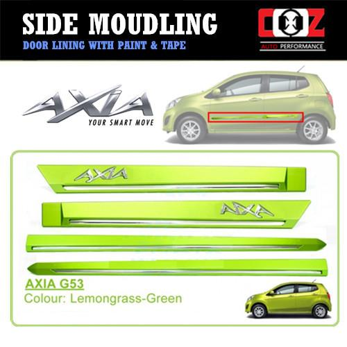 Perodua Axia Side Door Moulding / Body Lining - Lemongrass Green