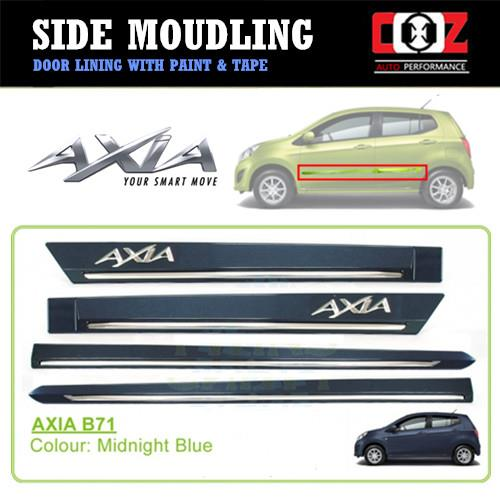 Perodua Axia Side Door Moulding / Body Lining - Midnight Blue