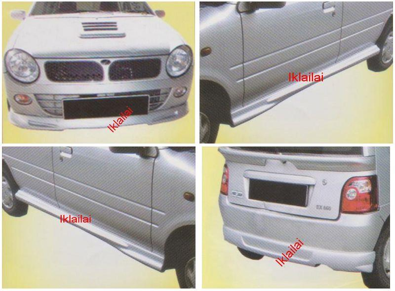 Perodua Kancil '02 MUGEN Style Full Set Skirting Body Kit [FIBER]