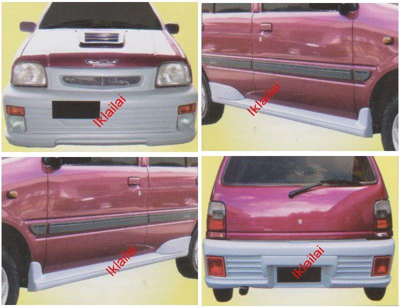 Perodua Kancil '94 L500 Style Front + Rear Bumper +Side Skirt Body Kit