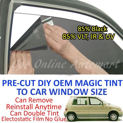 Perodua Kancil Magic Tinted Solar Window ( 4 Windows ) 85% Black