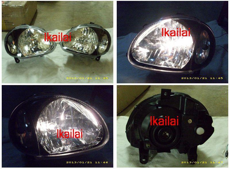 Perodua Kelisa Head Lamp Crystal Black [H4 Bulb included]