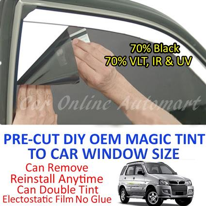 Perodua Kembara Magic Tinted Solar Window ( 4 Windows ) 70% Black