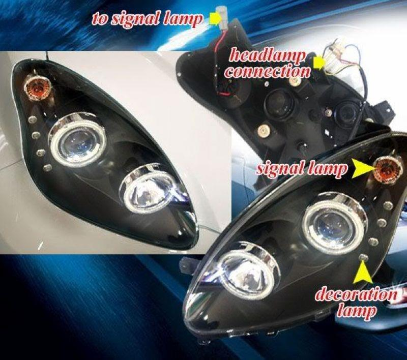 Perodua Myvi '05 CCFL Ring Projector Head Lamp