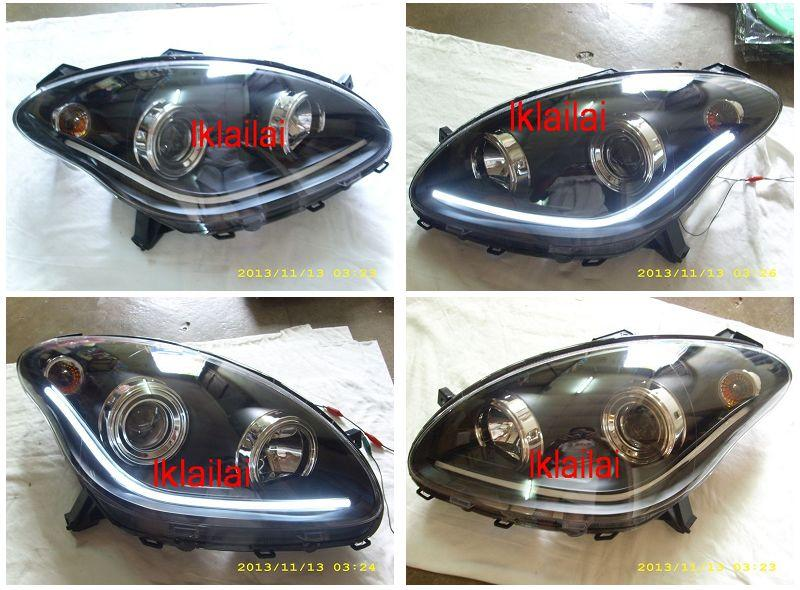 Perodua Myvi '05 Projector Head Lamp LED Light Bar
