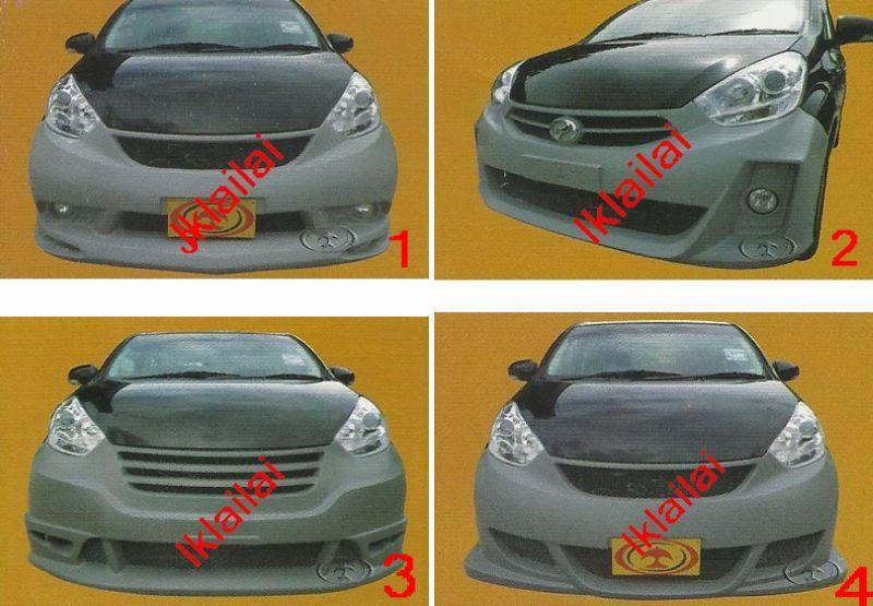Perodua Myvi '11 1.3 Front/Rear Bumper [Impul/Sports/Mugen Stream]