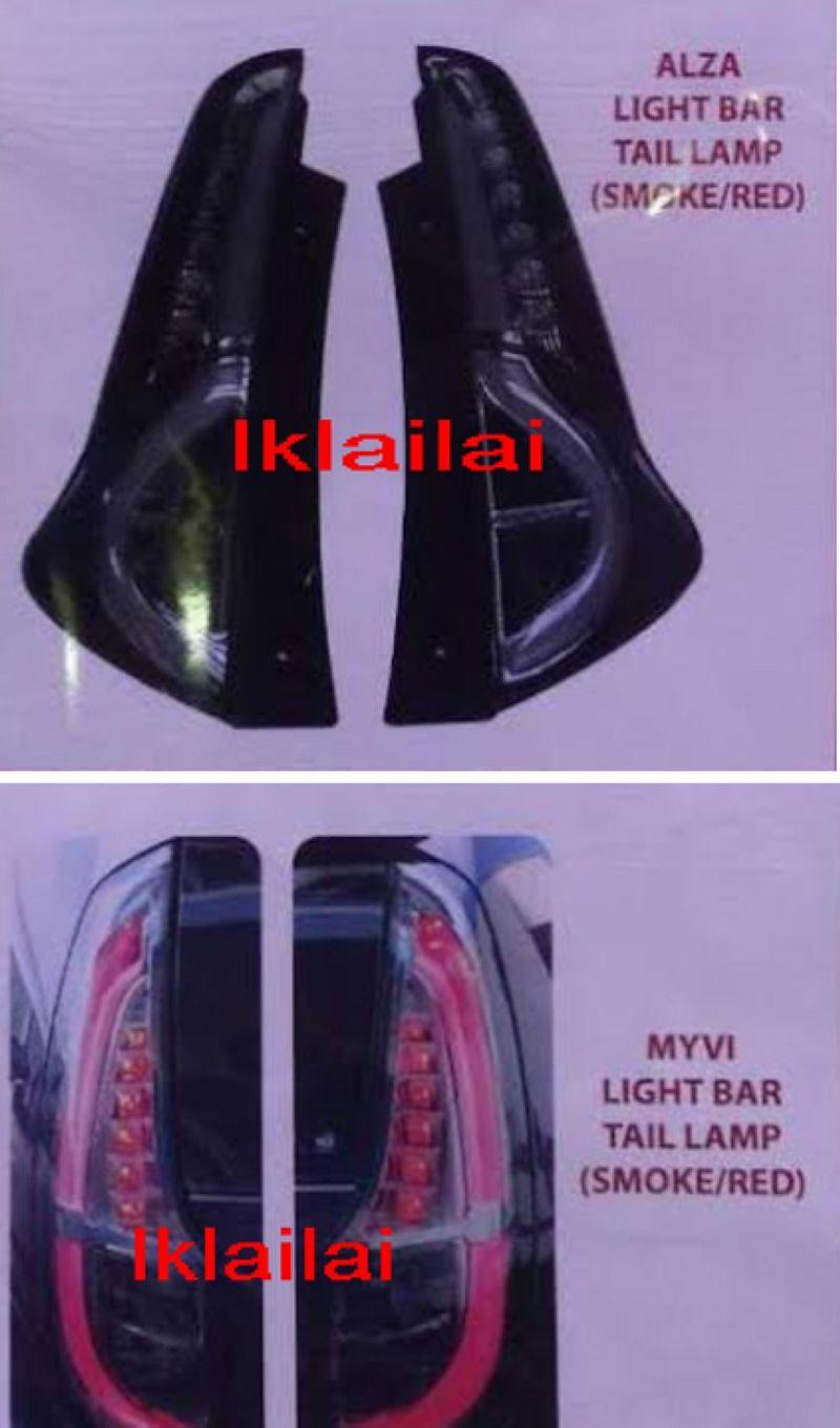 Perodua Myvi '11 / Alza / Icon '15 LED Light Bar Tail Lamp [Smoke]