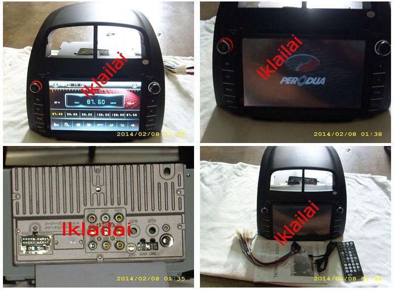 Perodua Myvi 8' OEM Bluetooth USB DVD Player Audio System With Casing