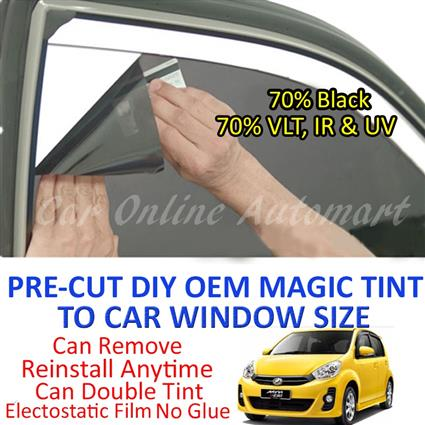 Perodua Myvi Icon Magic Tinted Solar Window ( 4 Windows ) 70% Black