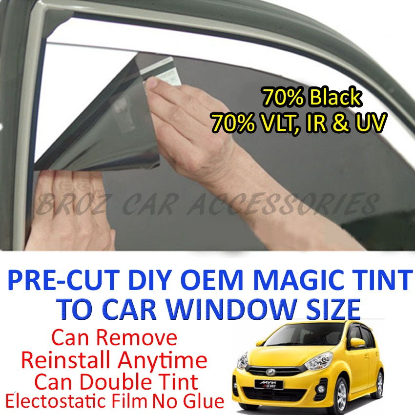 Perodua Myvi Icon Magic Tinted Solar Window (4 Windows & Rear) 70%