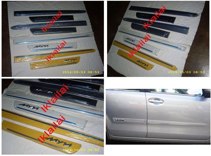 Perodua Myvi Lagi Best '11 Door / Side Moulding With Chrome Lining