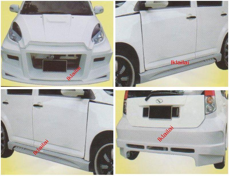 Perodua MYVI TRANSFORMER [Front + Rear Bumper + Side Skirt] Body Kit