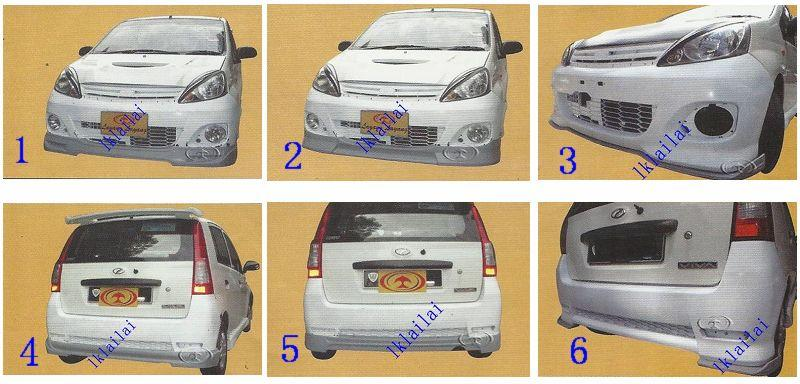 Perodua Viva Elite Front/Rear Skirt Body Kit [Wald/Full Bloom/Splitter