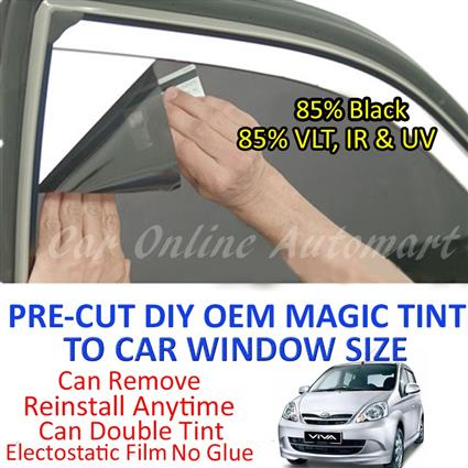Perodua Viva Magic Tinted Solar Window ( 4 Windows & Rear Window ) 85%