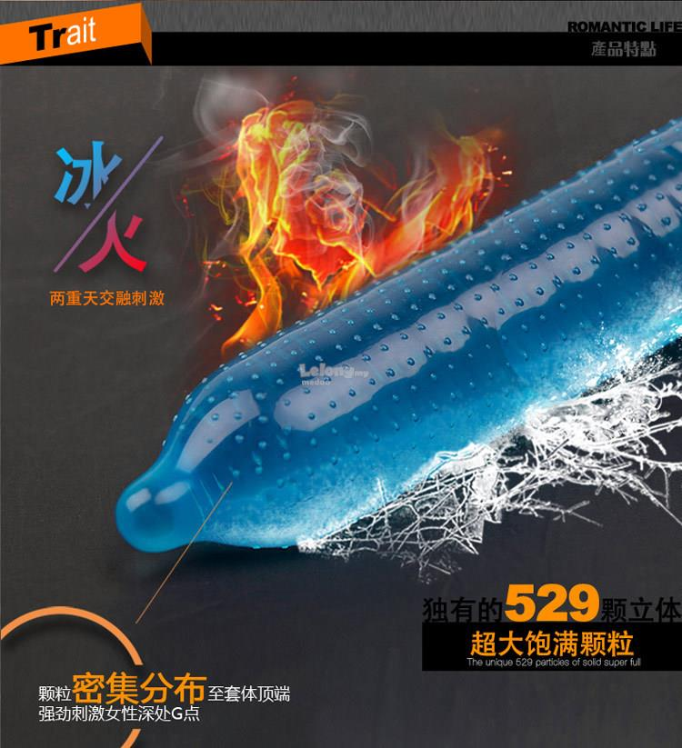 Personage G Point Ice and Fire Dotted Condom